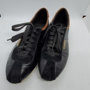 """Coach """"ivory"""" black brown leather sneakers 7.5"""